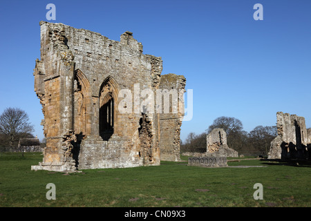 The Remains of Egglestone Abbey Near Barnard Castle County Durham UK - Stock Photo