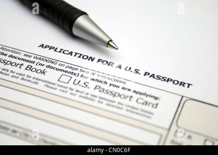 passport application - Stock Photo