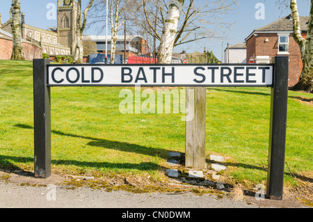 Street sign for Cold Bath Street, Preston - Stock Photo