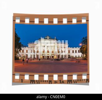 Filmstrip:The Burgtheater in Vienna is an Austrian Federal Theater, Vienna, Austria, Europe - Stock Photo