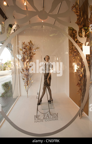 Shop window in the El Paseo district of Palm Desert, Ca. - Stock Photo