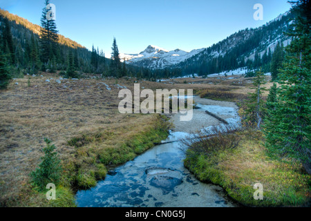 Small creek in the high Wallowa mountains of Oregon - Stock Photo
