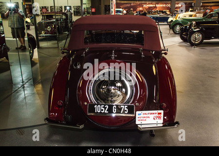 1939 Delage D8-120 Cabriolet at the Mullin Museum in Oxnard California - Stock Photo