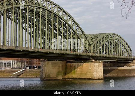 A modern bridge in Cologne - Stock Photo
