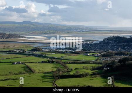 The Aberglaslyn Estuary Porthmadog North Wales - Stock Photo