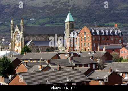 clonard monastery in the middle of west Belfast Northern Ireland UK - Stock Photo