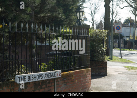 The Bishops Avenue Hampstead north London UK. England HOMER SYKES - Stock Photo