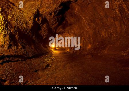 Thurston lava tube, Volcano National Park, Big Island, Hawaii - Stock Photo