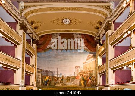 Italy Abruzzi Atri municipal Theatre - Stock Photo
