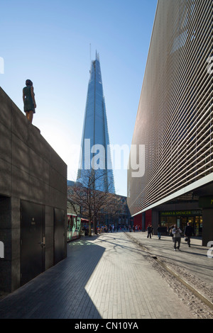 Shard London Bridge by Renzo Piano Under construction 27th March 2012, UK - Stock Photo