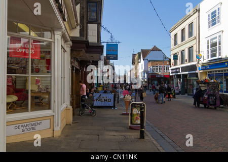 Canterbury, UK,  pedestrian precinct - Stock Photo
