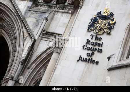 Royal Courts of Justice, London, UK - Stock Photo