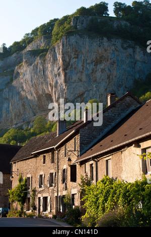 France, Jura, Baume les Messieurs, labeled Les Plus Beaux Villages de France (The Most Beautiful Villages of France), - Stock Photo