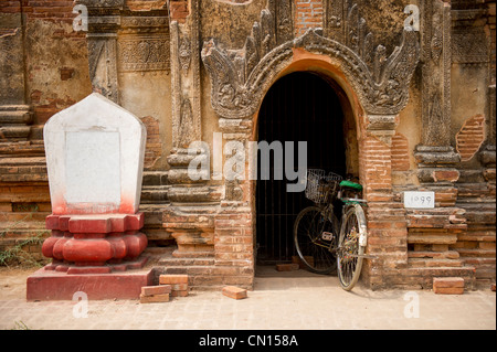 Temple ruins in Bagan Myanmar - Stock Photo