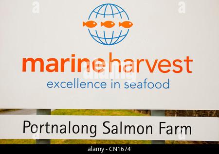 The Portnalong Salmon Farm, Isle of Skye, Scotland, UK.