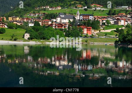 Italy, Trentino-Alto Adige, Dolomites, group de Brenta, Molveno - Stock Photo