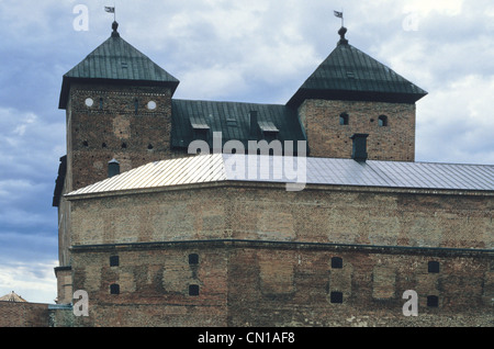 Hame Castle is a medieval castle in Hameenlinna, Finland. The castle is located on the shores of Lake Vanajavesi. - Stock Photo
