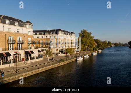 Europe, UK, England, Surrey, Staines riverside - Stock Photo