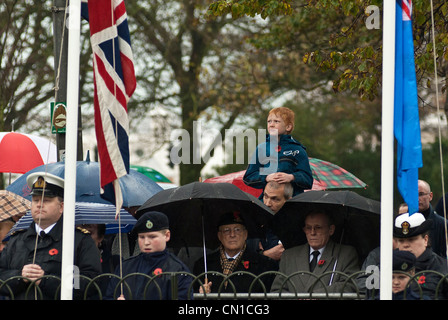 14/11/2010. Crowds gather at the rememberance service held in the Old Steine, Brighton. - Stock Photo