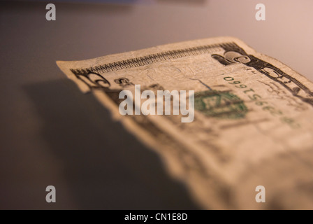 Five Dollar Bill Close-up - Stock Photo