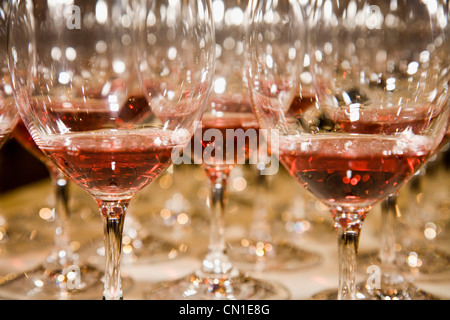 Glasses of Red Wine - Stock Photo