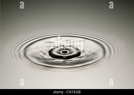 Drop of Water Creating Ripples - Stock Photo