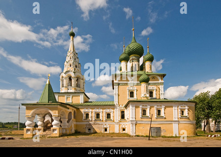 RUSSIA Uglich Russian Orthodox Church next to the Monastery of The Resurrection - Stock Photo