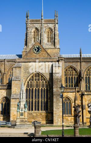 Sherborne abbey market town centre high street dorset england - Stock Photo