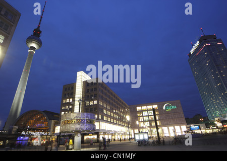 Berlin Mitte Alexander Square Place World Time Clock - Stock Photo
