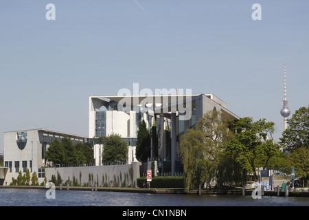 Berlin Mitte Ferderal Chancellery Chancellory Chancellorship Spree - Stock Photo