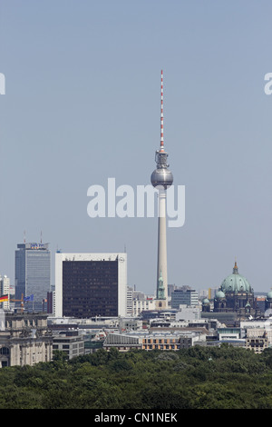 Berlin Mitte Skyline Television Tower Dome - Stock Photo