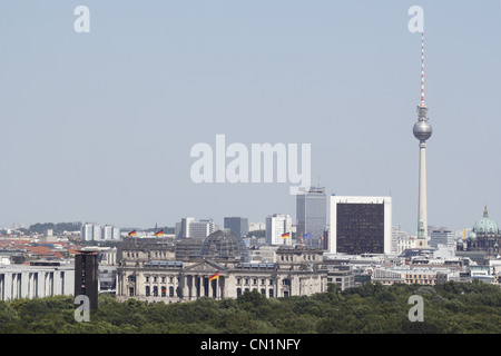 Berlin Mitte Skyline Television Tower Dome Reichstag - Stock Photo