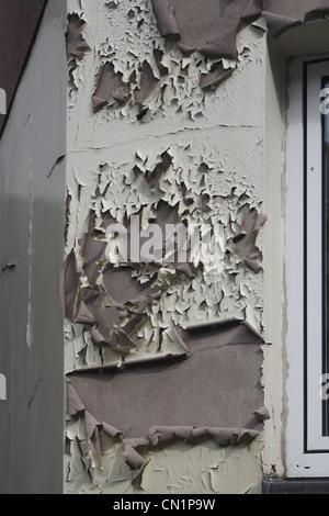 Facade adversity damage defect - Stock Photo