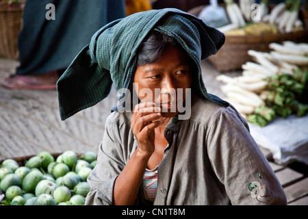 Mrauk U, Rakhine State, Burma (Myanmar) - Stock Photo
