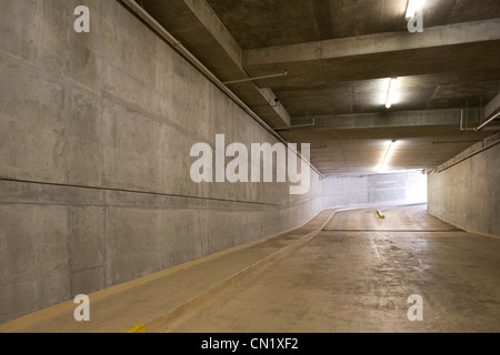Underground car park, Vancouver, British Columbia, Canada - Stock Photo