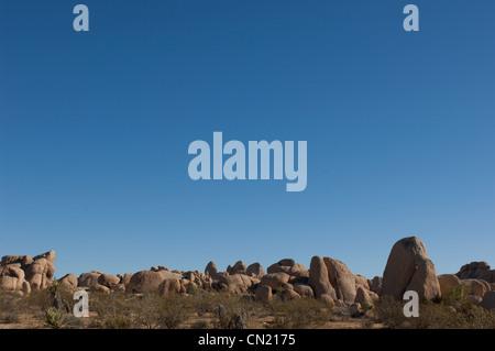 Rock formation, Joshua Tree National Park, Mojave Desert, California, USA - Stock Photo