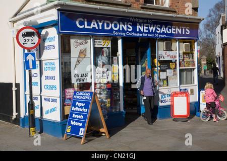 Claydons newsagents Colchester Essex England - Stock Photo