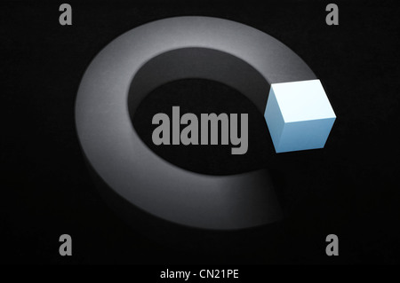 Abstract cube illustration - Stock Photo