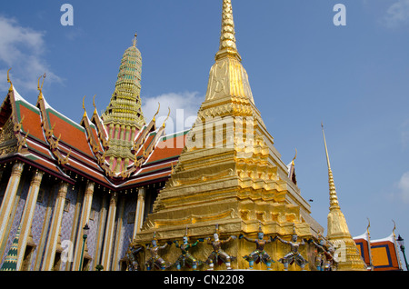 Thailand, Bangkok. The Grand Palace, established in 1782. The Upper Terrace monuments. - Stock Photo