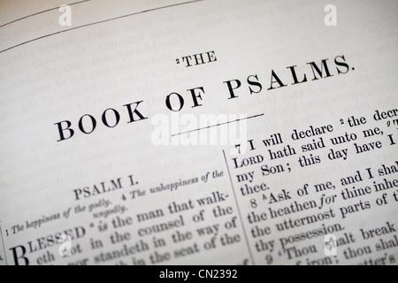 Psalms Bible heading - Stock Photo