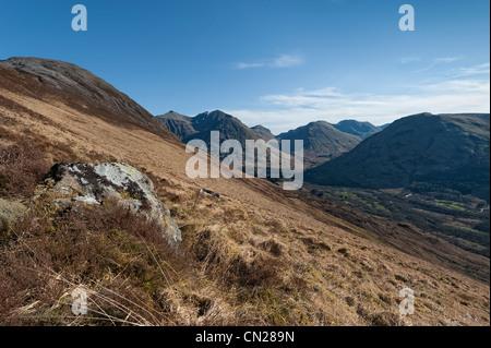 Scottish mountains and glens - Stock Photo