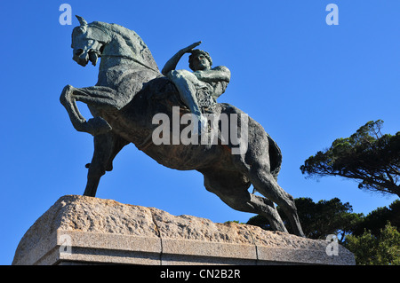 Rhodes Memorial on Devil's Peak in Cape Town, South Africa. - Stock Photo