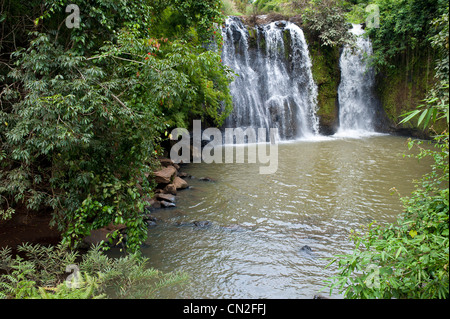 Cambodia, Ratanakiri Province, near Banlung (Ban Lung), Kachanh Waterfall - Stock Photo