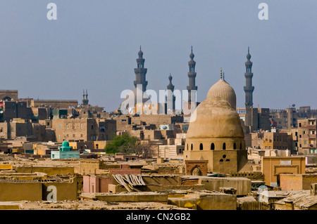 View of the city of the dead and Old Cairo Egypt - Stock Photo