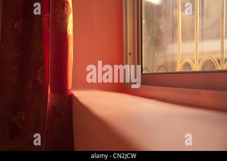 Windowsill, close up - Stock Photo