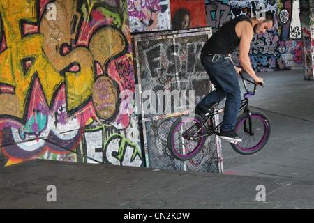 bmx, bmx rider, bmx stunts, bike tricks, bmx tricks - Stock Photo