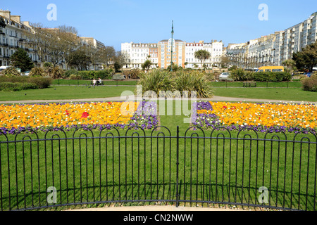Warrior Square gardens, St Leonards, East Sussex, UK - Stock Photo