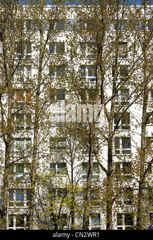 Residential flats, Berlin, Germany - Stock Photo