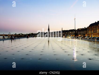 Place de la bourse, Bordeaux, France - Stock Photo