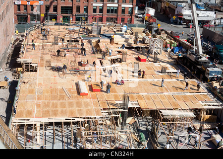 Construction site, high angle view - Stock Photo